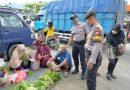 Sambangi Pasar, Polsek Babulu Berikan Himbauan Protokol Kesehatan